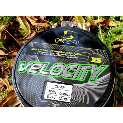 Жилка карповая Velocity XS (Xtra - Strong) 1200M, 0.25MM/5KG/11LB/LO-VIS GREEN