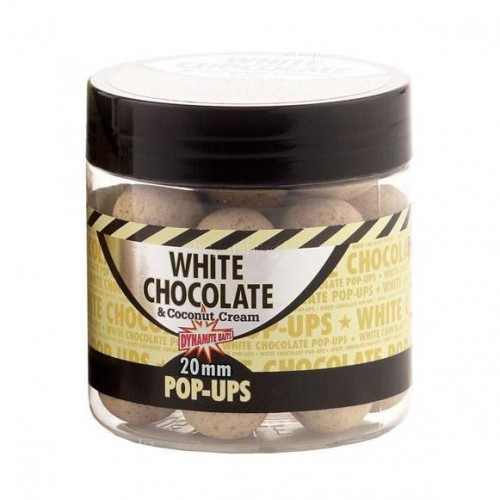 Бойлы Dynamite Baits Pop Ups 15mm White Chocolate - DY657