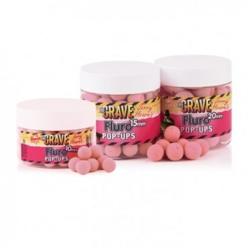 Бойлы Dynamite Baits Crave Pink Fluro Pop Up 10mm