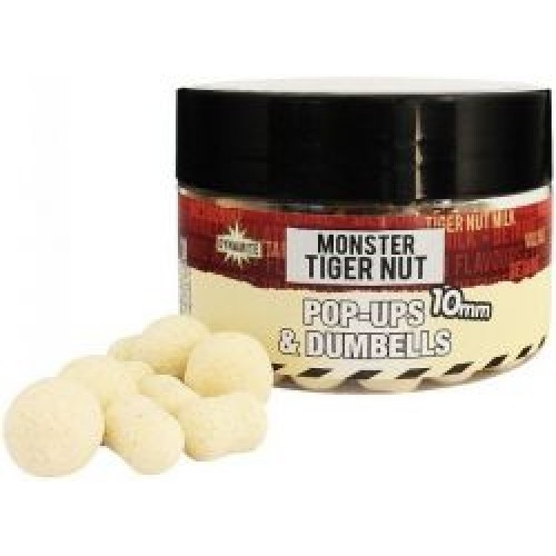 Бойлы Dynamite Baits White Fluro Pop Ups & Dumbells - Monster Tigernut - 10mm - DY326