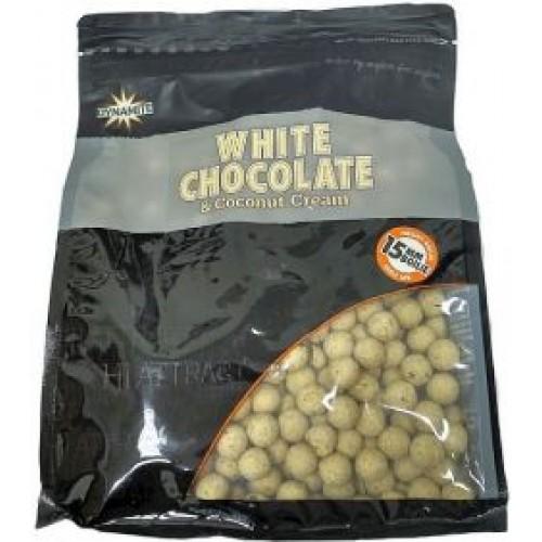 Бойлы тонущие DYNAMITE BAITS White Chocolate & Coconut Cream S/L 15mm, 1kg
