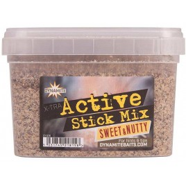 Прикормка DYNAMITE BAITS Xtra Active Stick Mix - Sweet & Nutty -  650g - DY1216