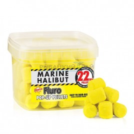 Пеллетс Dynamite Baits Catfish Pop Ups - Yellow Fluro Marine Halibut 22mm - DY870