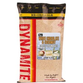 Прикормка DYNAMITE BAITS Coconut & White Choc Groundbait, 2kg
