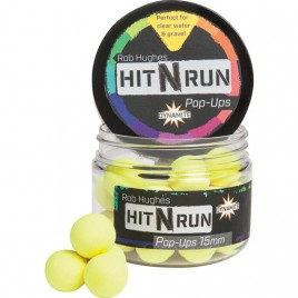 Бойлы Dynamite Baits Hit n Run PopUp Yellow 15mm - DY1271