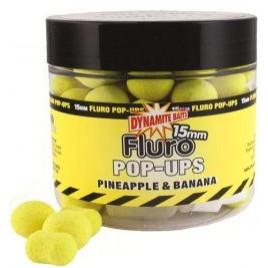 Бойлы и дамбелсы DYNAMITE BAITS Pineapple (Ананас) &Banana (Банан) (Ананас-Банан) Fluro Pop Up 20mm
