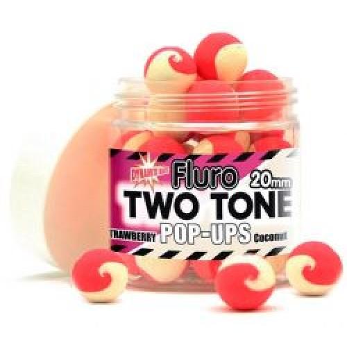 Бойлы плавающие DYNAMITE BAITS Two Tone Pop-Up - Strawberry (Клубника)  & Coconut 20mm - DY594