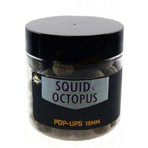 Бойлы плавающие DYNAMITE BAITS Squid & Octopus - Foodbait Pop-Up 15mm - DY978