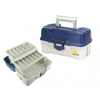 Ящик PLANO 620206 2 Tray Tackle Box w/ dual top access Blue Metallic/Off White (36,2x21,59x19,69 см)