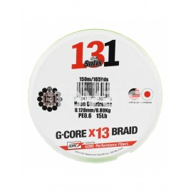 Шнур Sufix 131 BRAID 150M 0.165MM/9.10KG/#1/20LB/Green (S13165GR150)