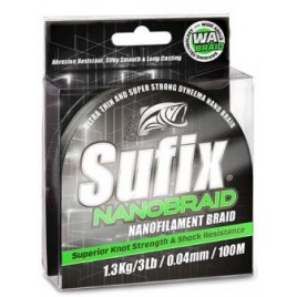 Шнур Sufix Nano Braid 135m 0.12mm/16lb/7.3kg/Hot Pink