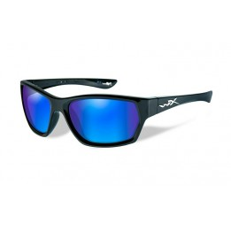 MOXY Polarized Blue Mirror Gloss Black Frame - солнцезащитные очки