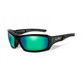 ECHO Polarized Emerald Mirror Gloss Black Frame - солнцезащитные очки
