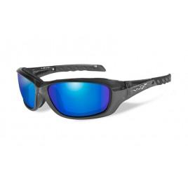 GRAVITY Polarized Blue Mirror Black Crystal Frame - солнцезащитные очки