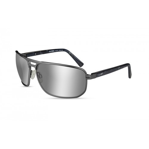 Очки Wiley X HAYDEN Pol Grey Silver Flash Matte Dark Gunmetal Frame