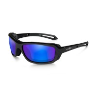 Очки Wiley X WAVE Polarized Blue Mirror Gloss Black Frame