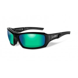Очки Wiley X ECHO Polarized Emerald Mirror Gloss Black Frame