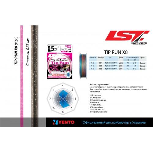 Шнур плетеный LineSystem TIP RUN X8 200m #0.6