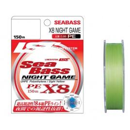 Шнур плетеный LineSystem SEA BASS X8 NIGHT GAME 150м