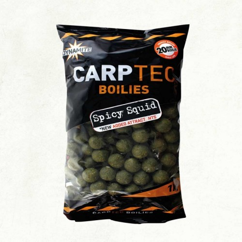 Бойлы Dynamite Baits Carptec Spicy Squid 15mm 2kg DY1157