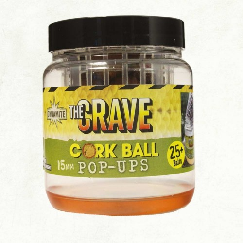 Бойлы Dynamite Baits The Crave Cork Ball 15mm Pots - DY936