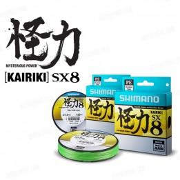 Шнур Shimano Kairiki SX8 PE 150m 0.120mm 7 kg \ 15 lb Mantis Green