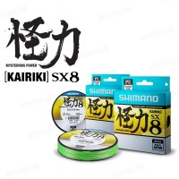 Шнур Shimano Kairiki SX8 PE 150m 0.150mm 9 kg \ 20 lb Mantis Green