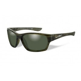 Окуляри Wiley X MOXY Polarized Green Platinum Flash Olive Stripe Frame